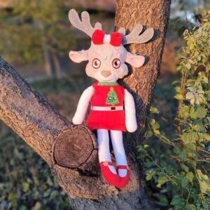 Sammy reindeer Doll 4 SIZES ith machine embroidery design