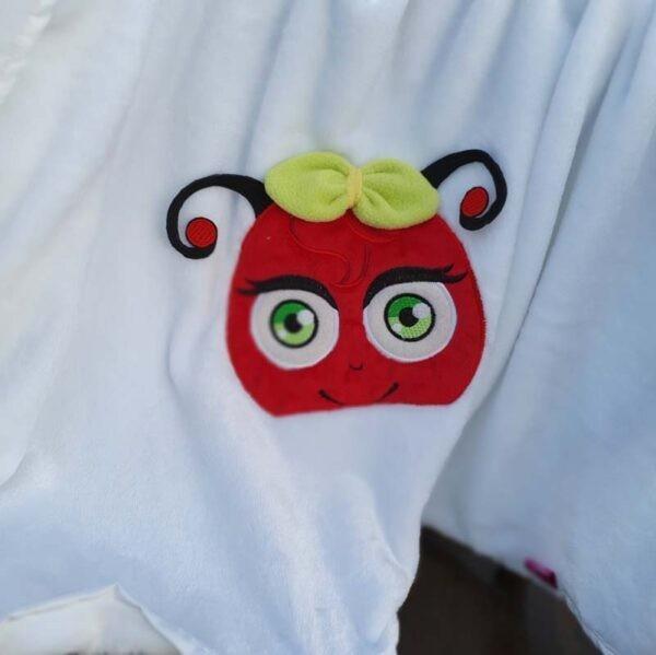 Daisy Ladybug Peeker machine embroidery design