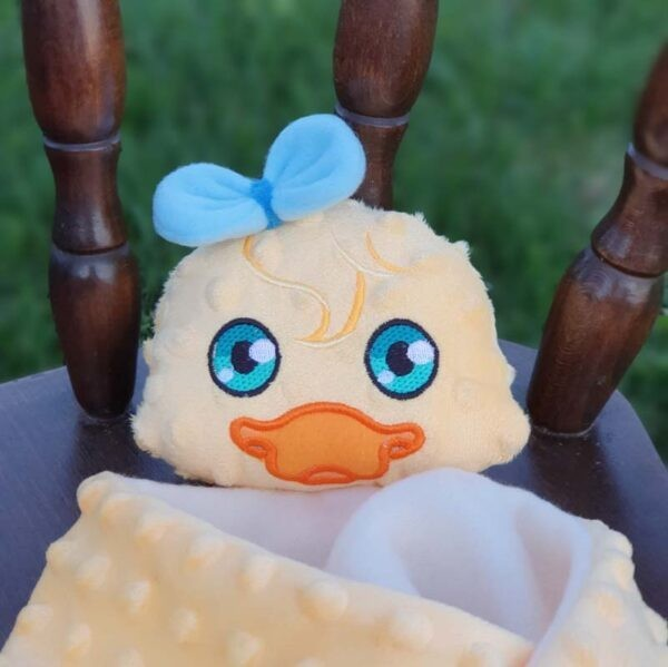 Piper duck lovey all sizes machine embroidery design