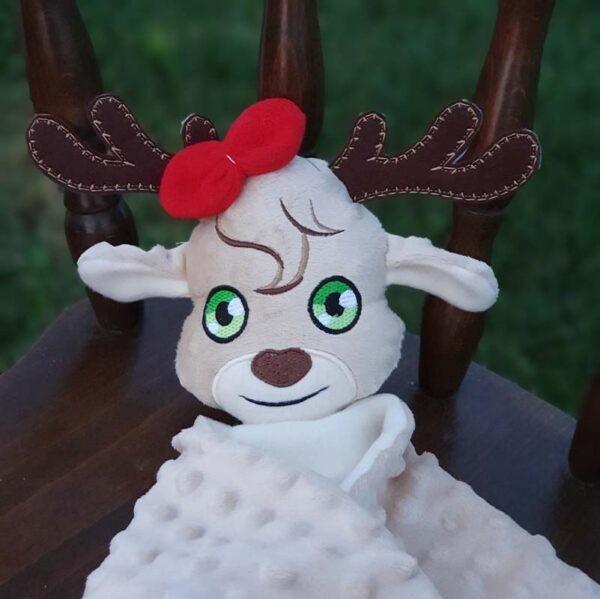 Sammy reindeer lovey all sizes machine embroidery design