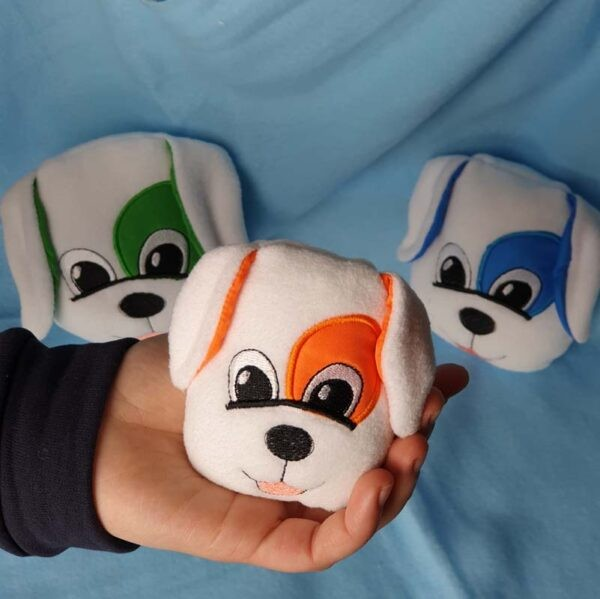 Dog stuffie free machine embroidery design ITH