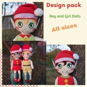 ELF BOY AND GIRL DOLL Design Pack