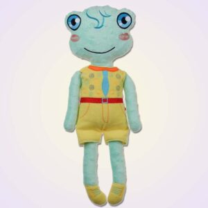 Frog boy doll ith machine embroidery design