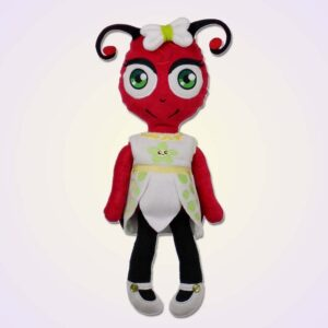 Ladybug girl doll ith machine embroidery design