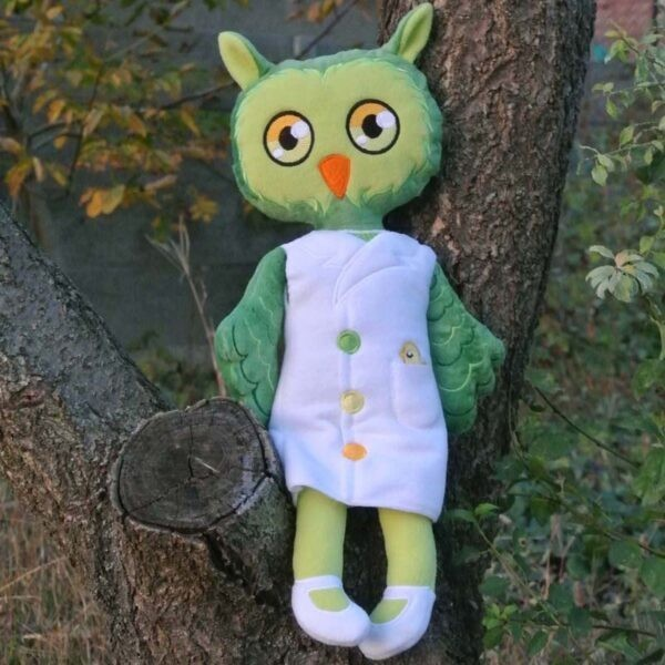 owl Doll 4 SIZES machine embroidery ith