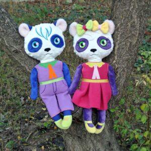 Panda Doll 4 SIZES machine embroidery ith
