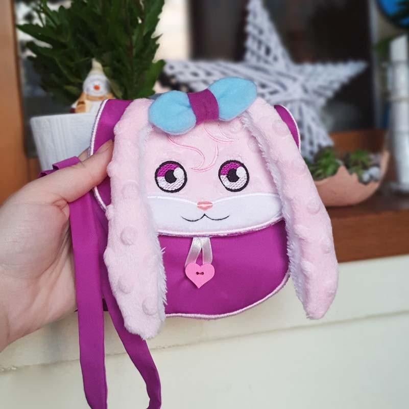 Nancy bunny purse 4 SIZES - ITH machine embroidery design