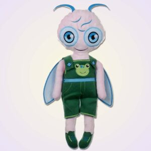 Firefly boy doll ith machine embroidery design