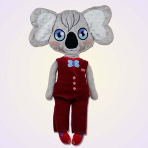 Koala boy doll ith machine embroidery design