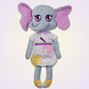 Elephant girl doll ith machine embroidery design