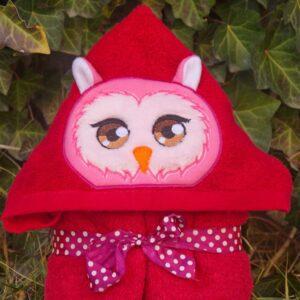 Owl Girl Peeker Applique Design