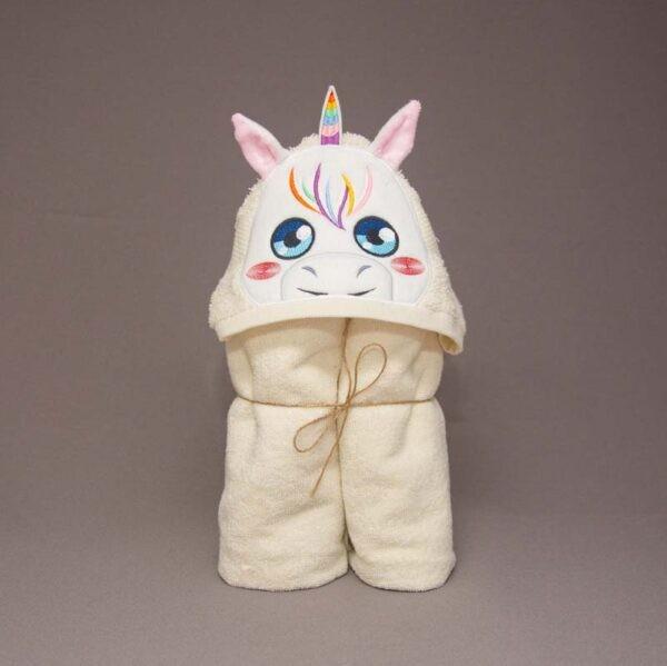Unicorn Girl Peeker Applique Design