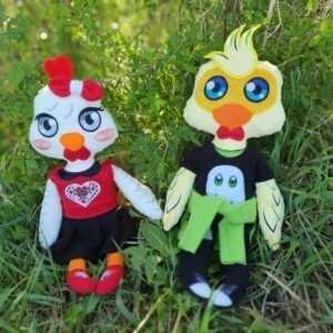 hen and rooster machine embroidery design pattern in the hoop doll diy