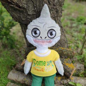 shark boy doll embroidery design