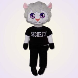 Lion boy doll ith machine embroidery design