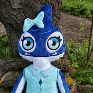 Orca girl doll embroidery design