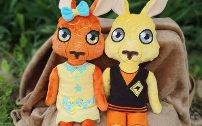 Hans and Marianne kangaroo boy and girl dolls Design Pack