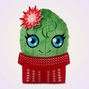 Cactus cacti stuffie ith machine embroidery design