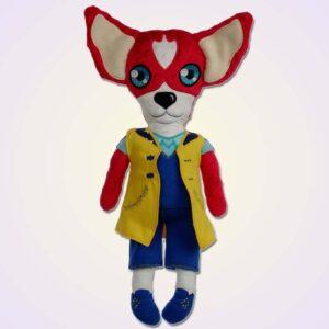 Chihuahua dog boy doll ith machine embroidery design