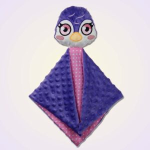 Penguin girl lovey ith machine embroidery design
