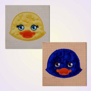 Quilt blocks duck machine embroidery