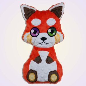 Red panda boy stuffie ith machine embroidery design_1
