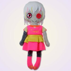 Happy wodoo spooky girl doll ith machine embroidery design