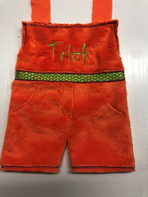 Scary Halloween Doll overalls