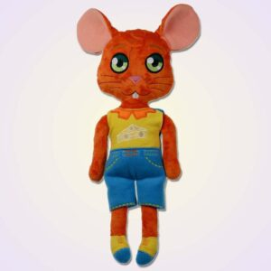 Mouse boy doll ith machine embroidery design