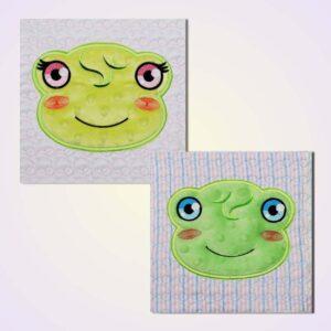 Quilt blocks frog