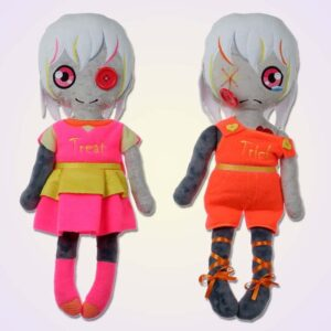 Sad happy wodoo spooky girl doll ith machine embroidery design