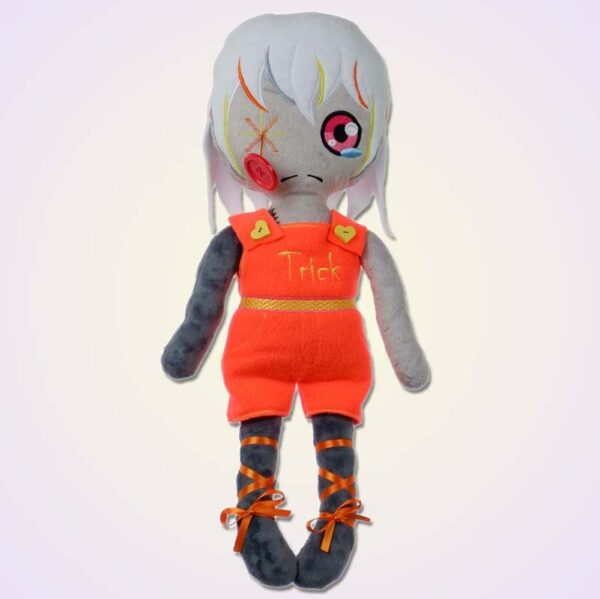 Sad wodoo spooky girl doll ith machine embroidery design