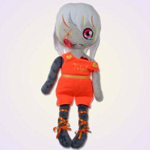 Sad wodoo spooky girl doll ith machine embroidery design1