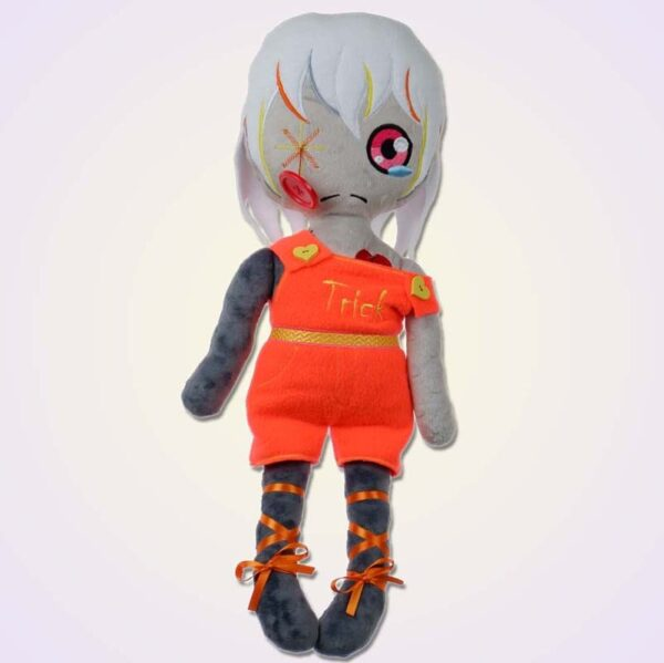 Sad wodoo spooky girl doll ith machine embroidery design1
