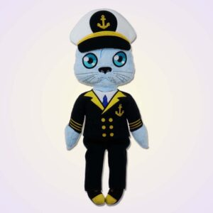 Seal boy doll ith machine embroidery design