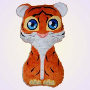 Tiger boy stuffie ith machine embroidery design