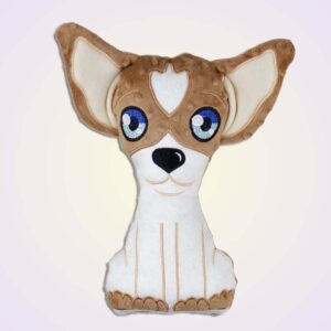 Chihuahua boy stuffie ith machine embroidery design