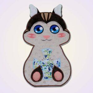 Chipmunk boy applique machine embroidery design