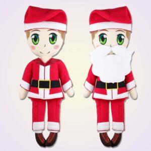 Santa claus doll ith machine embroidery design