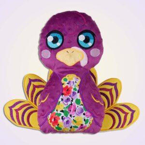 Turkey stuffie ith machine embroidery design