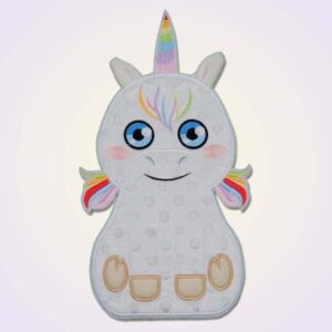 Unicorn applique machine embroidery design