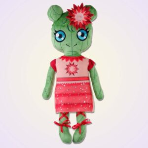 Cactus girl doll ith machine embroidery design