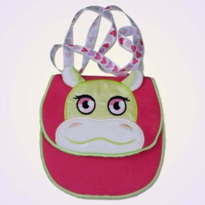 Hippo purse ITH machine embroidery design