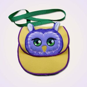 Owl purse ITH machine embroidery design