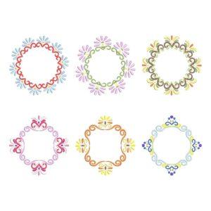 Monogram Frames Set machine embroidery design
