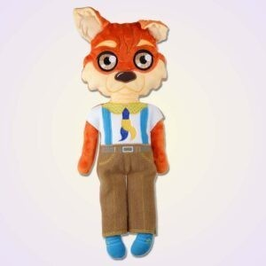 Wolf boy doll ith machine embroidery design