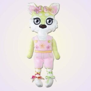 Wolf girl doll ith machine embroidery design
