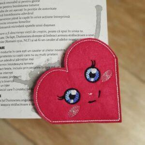 Valentine's Day Heart corner bookmark machine embroidery design pattern ith