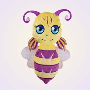 Bee stuffie machine embroidery design pattern ith