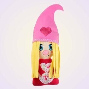 Valentine's day gnome cute stuffie machine embroidery design pattern ith